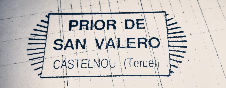 Detalle del sello del prior o mayordomo de San Valero en Castelnou. >> pincha para ver el libro de cuentas en PDF.
